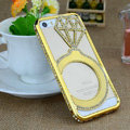 New Swarovski Bling Diamond Metal Bumper Frame Case Cover for iPhone 7 - Gold