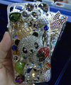 Swarovski crystal cases Bling Panda crown diamond cover for iPhone 7 - White