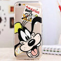 TPU Cover Disney Goofy Silicone Case Minnie for iPhone 7 - Transparent