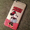 TPU Cover Disney Mickey Mouse Silicone Case Polka Dots for iPhone 7 - Transparent