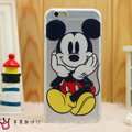 Transparent Cover Disney Mickey Mouse Silicone Shell TPU for iPhone 7 - White