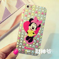 Transparent Cover Disney Minnie Mouse Silicone Cases Heart for iPhone 7 - Pink