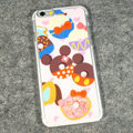 Cartoon Mickey Mouse Covers Hard Back Cases Disney Printing Shell for iPhone 6 4.7 - Pink