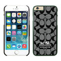 Classic Coach Covers Hard Back Cases Protective Shell Skin for iPhone 6 4.7 Black - Black