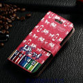 Classic Coach High Quality Leather Flip Cases Holster Covers For iPhone 6 4.7 - Red