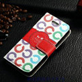 Classic Coach High Quality Leather Flip Cases Holster Covers For iPhone 6 4.7 - White