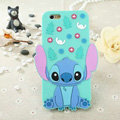 Cute Cartoon Cover Disney Stitch Silicone Cases Skin for iPhone 6 4.7 - Blue