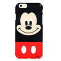 Genuine Cute Mickey Mouse Covers Plastic Back Cases Cartoon Matte PC for iPhone 6 4.7 - Black