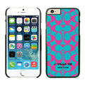 Luxury Coach Covers Hard Back Cases Protective Shell Skin for iPhone 6 4.7 Pink - Black