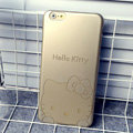 Plastic Hello Kitty Covers Hard Back Cases Cartoon Shell Skin for iPhone 6 4.7 - Gold