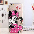 TPU Cover Disney Minnie Mouse Silicone Case Cartoon for iPhone 6 4.7 - Transparent