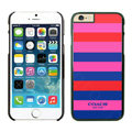Tailor Made Coach Covers Hard Back Cases Protective Shell Skin for iPhone 6 4.7 Lines - Black