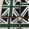 British Flag Tailored Trunk Carpet Cars Flooring Mats Velvet 5pcs Sets For BMW 520i - Green
