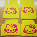Hello Kitty Tailored Trunk Carpet Auto Floor Mats Velvet 5pcs Sets For BMW 530i - Yellow