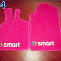 Cute Tailored Trunk Carpet Auto Floor Mats Velvet 5pcs Sets For BMW MINI Checkmate - Pink