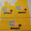 Cute Tailored Trunk Carpet Cars Floor Mats Velvet 5pcs Sets For BMW MINI Checkmate - Yellow