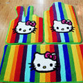 Hello Kitty Tailored Trunk Carpet Cars Floor Mats Velvet 5pcs Sets For BMW MINI Checkmate - Red