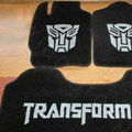 Transformers Tailored Trunk Carpet Cars Floor Mats Velvet 5pcs Sets For Honda CRX si - Black