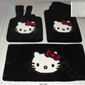 Hello Kitty Tailored Trunk Carpet Auto Floor Mats Velvet 5pcs Sets For Hyundai Verna - Black