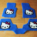 Hello Kitty Tailored Trunk Carpet Auto Floor Mats Velvet 5pcs Sets For KIA Rio - Blue