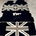 British Flag Tailored Trunk Carpet Cars Flooring Mats Velvet 5pcs Sets For KIA Optima - Black