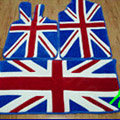 British Flag Tailored Trunk Carpet Cars Flooring Mats Velvet 5pcs Sets For Land Rover DC100 - Blue