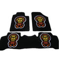 Winter Real Sheepskin Baby Milo Cartoon Tailored Cute Car Floor Mats 5pcs Sets For Land Rover Freelander - Black