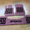 Givenchy Tailored Trunk Carpet Cars Floor Mats Velvet 5pcs Sets For Mitsubishi PajeroV77 - Coffee
