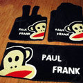 Paul Frank Tailored Trunk Carpet Auto Floor Mats Velvet 5pcs Sets For Nissan Bluebird - Black