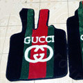 Gucci Custom Trunk Carpet Cars Floor Mats Velvet 5pcs Sets For Peugeot 206 - Red