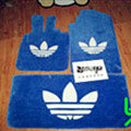 Adidas Tailored Trunk Carpet Auto Flooring Matting Velvet 5pcs Sets For Peugeot 208 - Blue