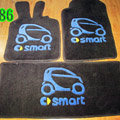 Cute Tailored Trunk Carpet Cars Floor Mats Velvet 5pcs Sets For Peugeot 208 - Black