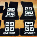 Givenchy Tailored Trunk Carpet Automobile Floor Mats Velvet 5pcs Sets For Peugeot 208 - Black