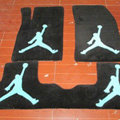 Jordan Tailored Trunk Carpet Cars Flooring Mats Velvet 5pcs Sets For Peugeot 208 - Black