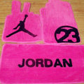 Jordan Tailored Trunk Carpet Cars Flooring Mats Velvet 5pcs Sets For Peugeot 208 - Pink