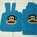 Paul Frank Tailored Trunk Carpet Cars Floor Mats Velvet 5pcs Sets For Peugeot 301 - Blue