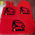 Cute Tailored Trunk Carpet Cars Floor Mats Velvet 5pcs Sets For Peugeot 307 - Red