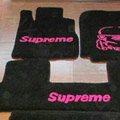 Supreme Tailored Trunk Carpet Automotive Floor Mats Velvet 5pcs Sets For Peugeot 307 - Black