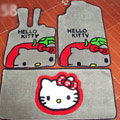 Hello Kitty Tailored Trunk Carpet Cars Floor Mats Velvet 5pcs Sets For Peugeot HR1 - Beige