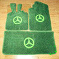 Winter Benz Custom Trunk Carpet Cars Flooring Mats Velvet 5pcs Sets For Peugeot HR1 - Green