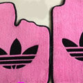 Adidas Tailored Trunk Carpet Cars Flooring Matting Velvet 5pcs Sets For Skoda Rapid - Pink