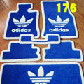 Adidas Tailored Trunk Carpet Cars Flooring Matting Velvet 5pcs Sets For Skoda VisionD - Blue