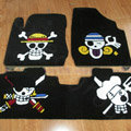 Personalized Skull Custom Trunk Carpet Auto Floor Mats Velvet 5pcs Sets For Toyota Yaris - Black