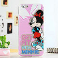 Cartoon Cute Cover Disney Minnie Mouse Silicone Cases Skin for iPhone 6S Plus 5.5 - Pink