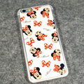 Cartoon Minnie Mouse Covers Hard Back Cases Disney Printing Shell for iPhone 6S Plus 5.5 - White