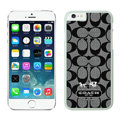 Classic Coach Covers Hard Back Cases Protective Shell Skin for iPhone 6S Plus 5.5 Black - White