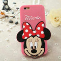 Cute Cartoon Cover Disney Minnie Silicone Cases Skin for iPhone 6S Plus 5.5 - Pink