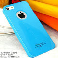 Imak ice cream hard cases covers for iPhone 6S Plus - Blue (High transparent screen protector)
