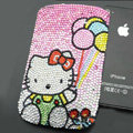 Luxury Bling Holster Covers Hello kitty diamond Crystal Cases for iPhone 6S Plus - Pink EB003