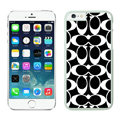 Luxury Coach Covers Hard Back Cases Protective Shell Skin for iPhone 6S Plus 5.5 Black - White